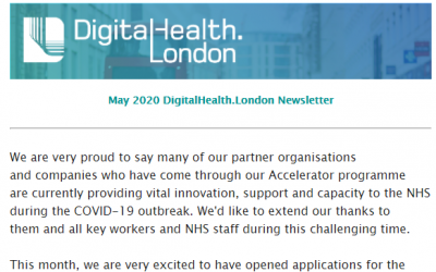 DigitalHealth.London Newsletter