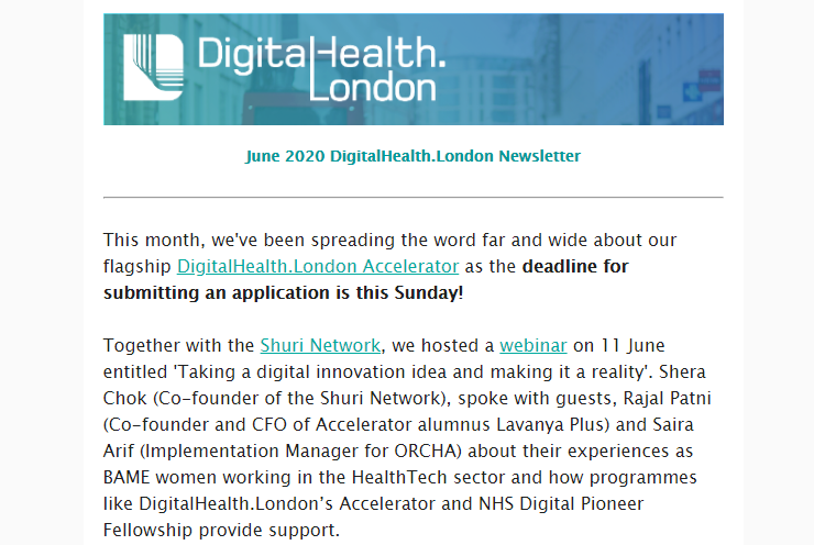 DigitalHealth.London June Newsletter