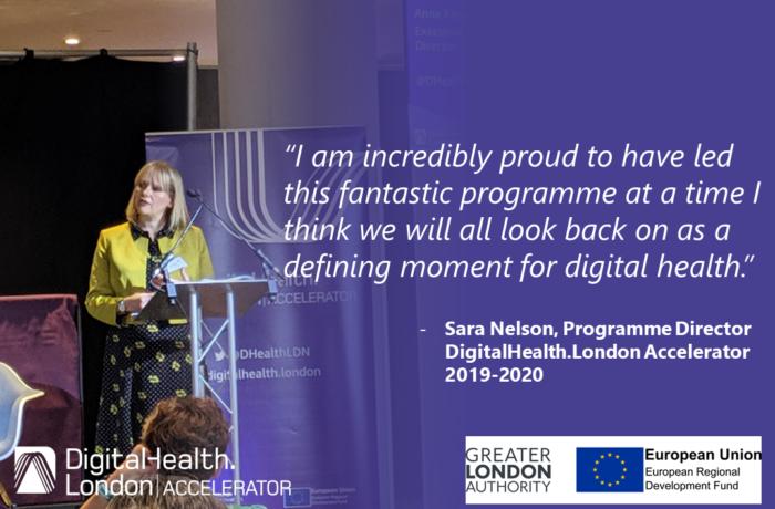 Sara Nelson DigitalHealth.London Accelerator