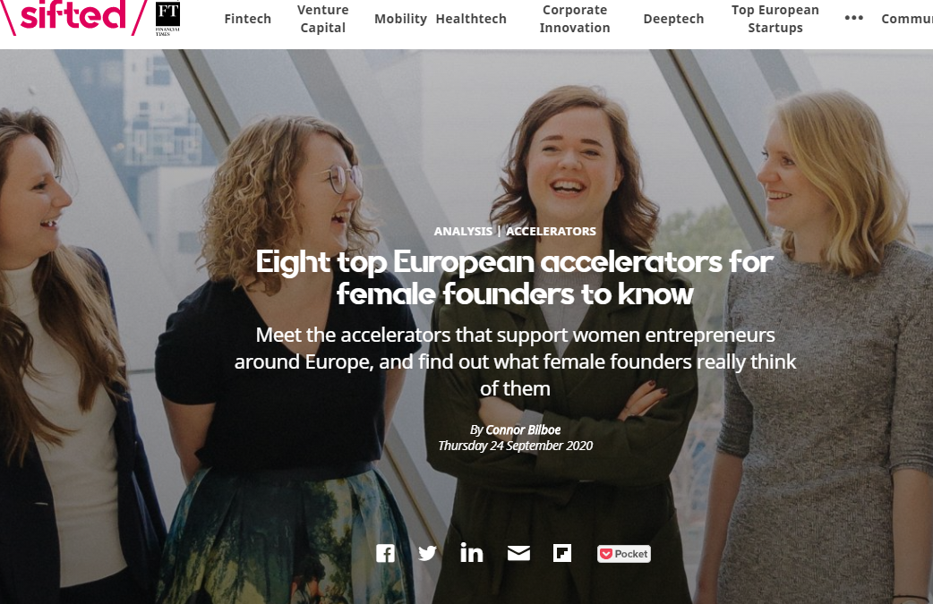 DigitalHealth.London Accelerator is one of Sifted's 8 top European accelerators for female founders