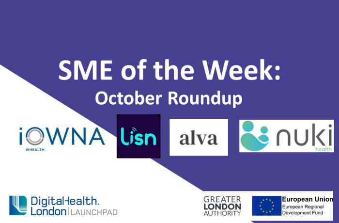 DigitalHealth.London SME of the Week October
