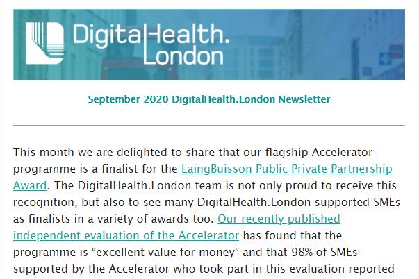 DigitalHealth.London September Newsletter