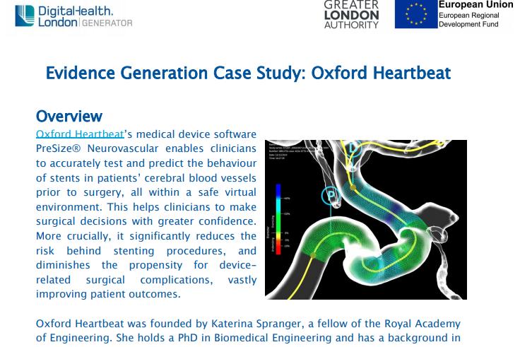 Evidence Generation Case Study: Oxford Heartbeat