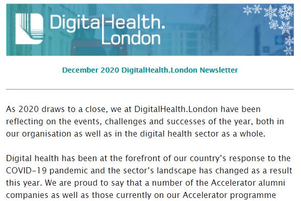 DigitalHealth.London December Newsletter