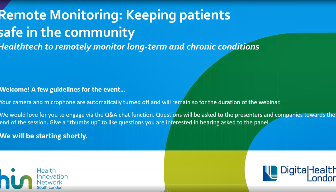 Remote Monitoring: Keeping patients safe in the community
