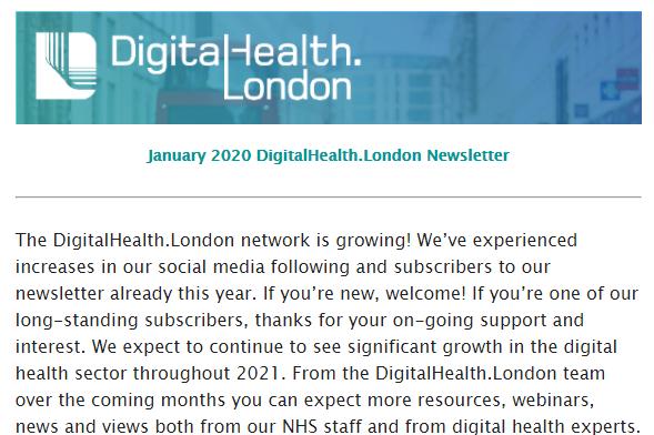 DigitalHealth.London January Newsletter