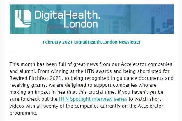 DigitalHealth.London February newsletter