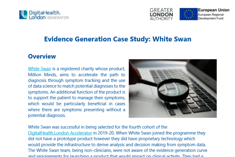 White Swan Evidence Generation
