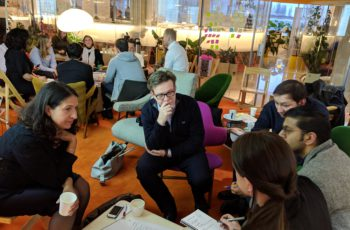 2 groups brainstorming